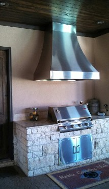 Custom Kitchen with Steel Air Vent
